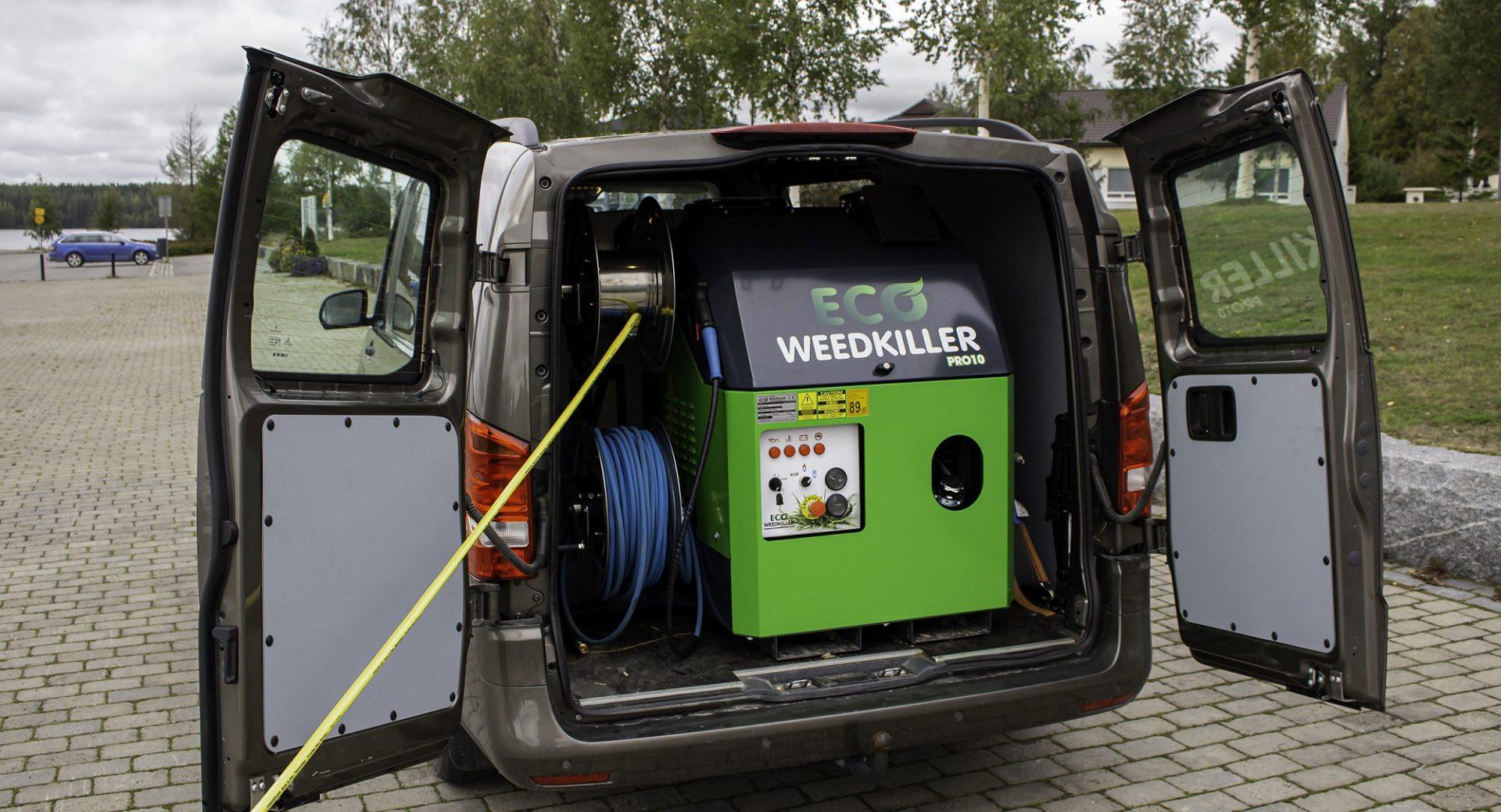 Eco Weedkiller PRO10 fits in a van